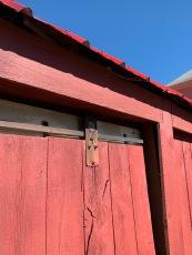 Vintage barn door